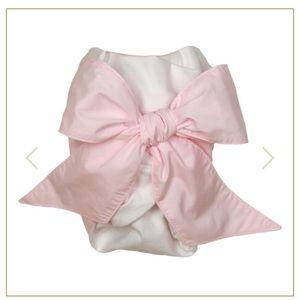 TBBC pink bow swaddle